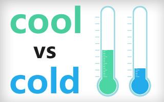 تفاوت cool و cold - ابراهیم درویش - آموزش انگلیسی