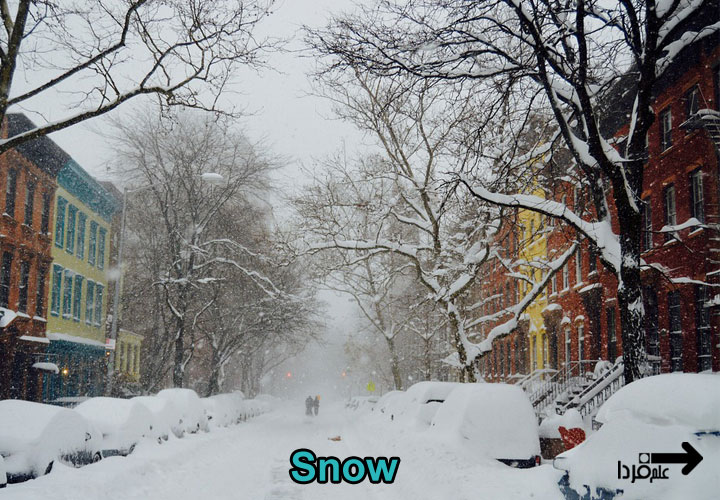 برف به انگلیسی snow