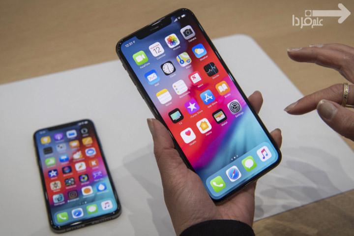 صفحه نمایش iPhone XS و iPhone XS MAX
