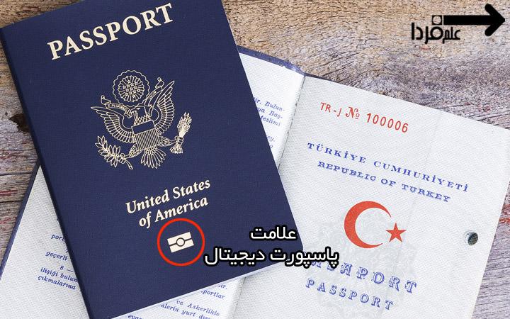 لوگوی پاسپورت دیجیتال یا پاسپورت بایومتریک