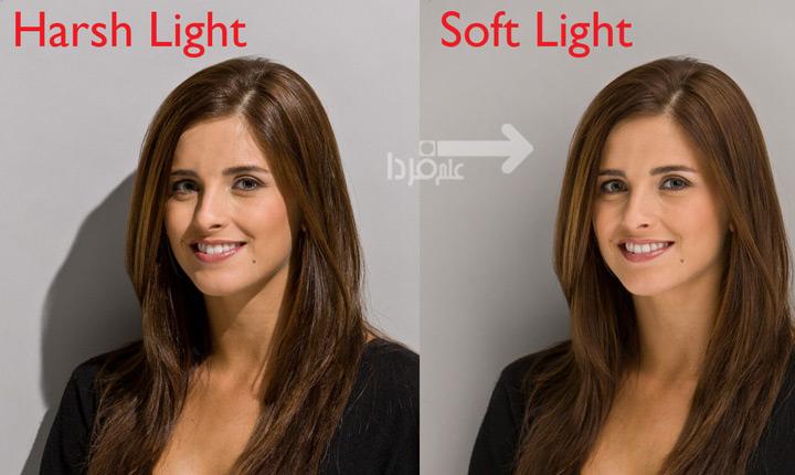 نور نرم و نور سخت - تفاوت سایه ها