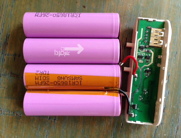 باتری تقلبی پاوربانک با اتصالات ضعیف