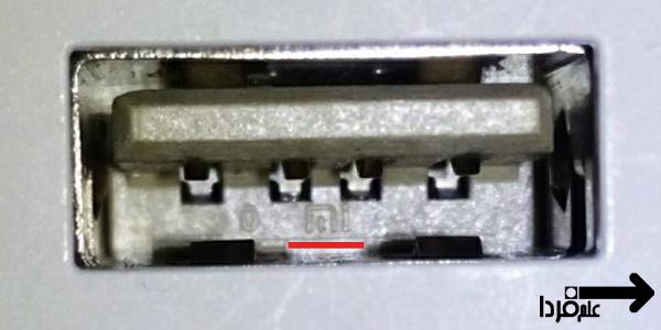 لوگوی mi رو پورت USB پاوربانک اصلی شیائومی
