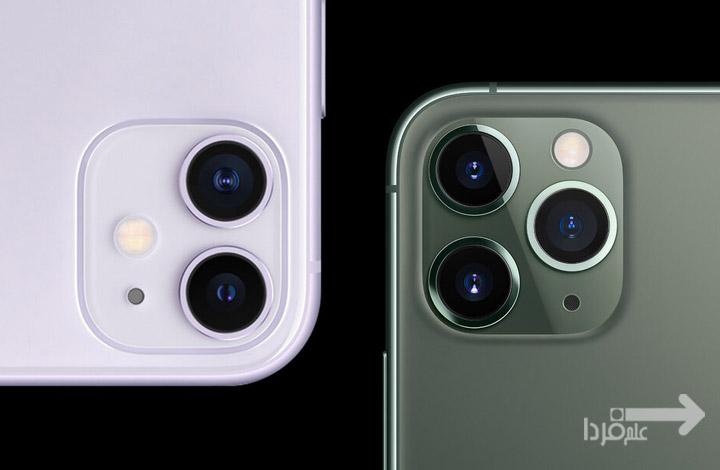 تفاوت دوربین آیفون 11 و آیفون 11 پرو