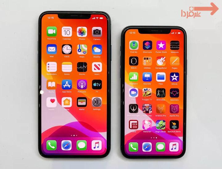 مقایسه صفحه نمایش آیفون 11 و آیفون 11 پرو