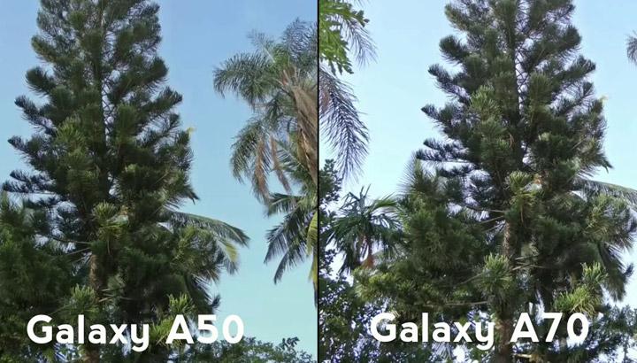 مقایسه دوربین گوشی A50 و A70