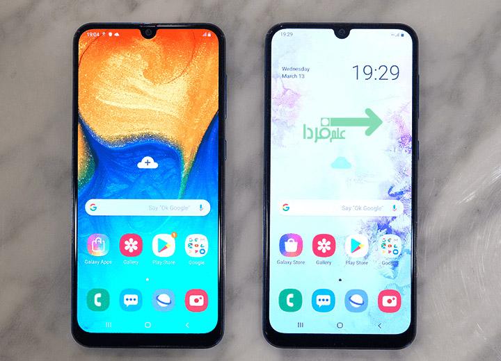 تفاوت ظاهری بین گوشی A50 و A30 سامسونگ نیست